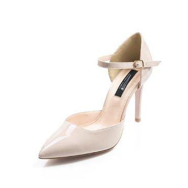 Pantofi piele lac nude Vera