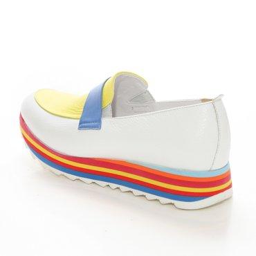 Pantofi sport casual din piele naturala alba Klara