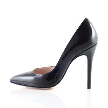 Pantofi stiletto lac negru Eva