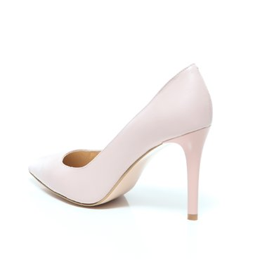Pantofi stiletto trend 2 piele roz pal