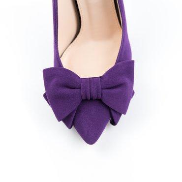 Pantofi stiletto trend Lady piele camoscio violet