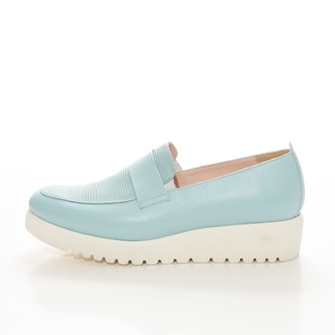 Pantofi verde menta din piele naturala Klara