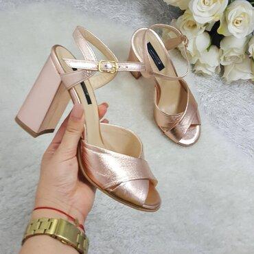 Sandale dama roz lucios Anelise