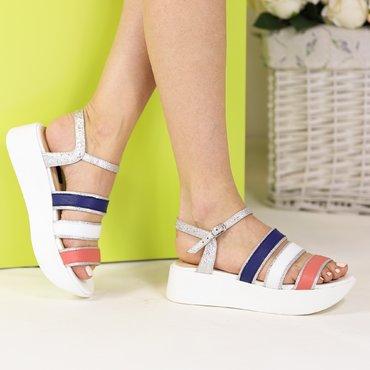 Sandale de dama din piele naturala colorata Zara Y
