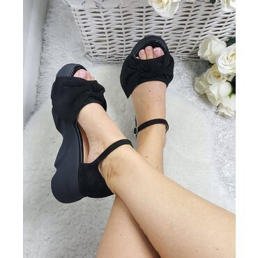 Sandale de dama negre cu funda Masha