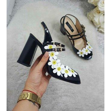 Sandale de dama negre Mary