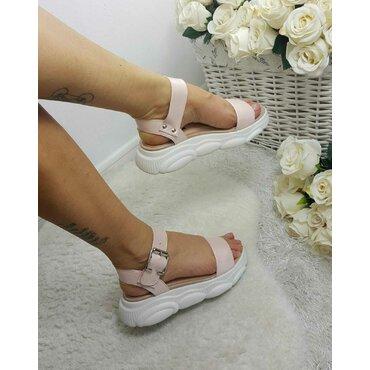 Sandale de dama roz Almina