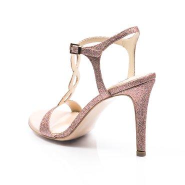 Sandale de ocazie glitter roz Irenne