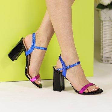 Sandale din piele naturala color Rita