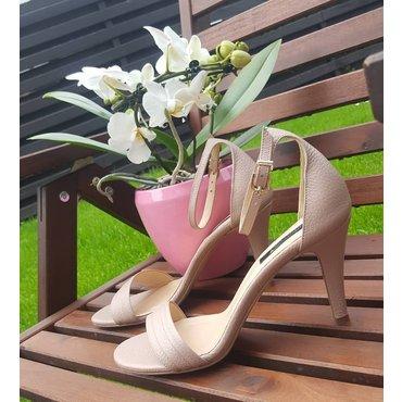Sandale din piele naturala nud Mira
