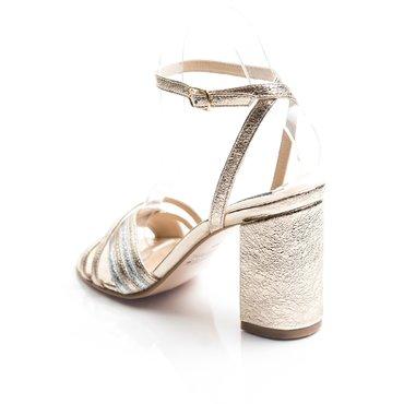 Sandale piele aurie Michelle