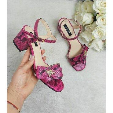 Sandale piele naturala fuxia Bela