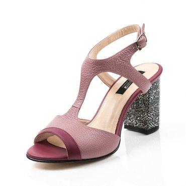 Sandale piele naturala mov Berta