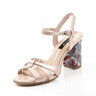 Sandale piele naturala roz Amelia