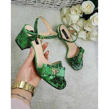 Sandale piele naturala verde Bela