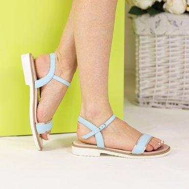 Sandale piele naturala verde menta Soft