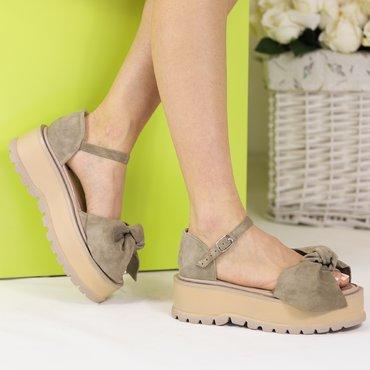 Sandale platforma bej Masha