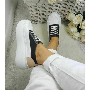 Sneakers albi cu bej Bony