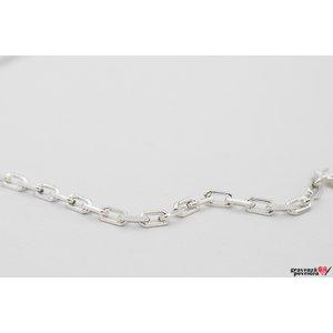 Lant supliment Cable XL Argint 925 rodiat (50-55-60 cm)