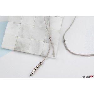 Baza colier snur cu bilute Argint 925 rodiat