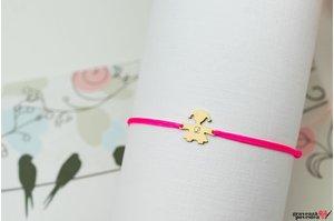 Bratara snur fetita 11 mm personalizata gravura initiala Aur 14K