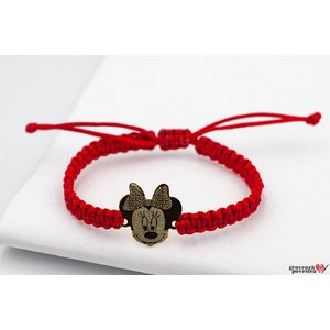 Bratara Mickey/ Minnie 16 mm personalizata gravura text Aur 14K