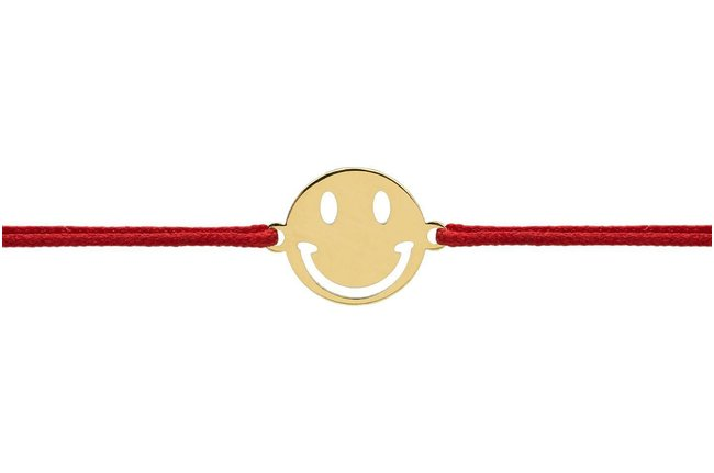 Bratara snur mini smiley 9 mm Aur 14K
