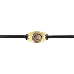 Bratara snur gros oval 22 mm personalizat gravura foto Aur 14K