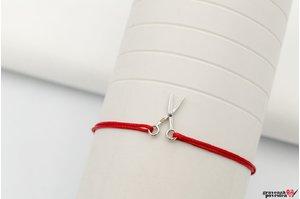 Bratara snur foarfeca 17 mm Argint 925 rodiat