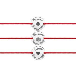 Bratari Martisor 1 - 8 MARTIE - argint 925 (minim 5 buc)