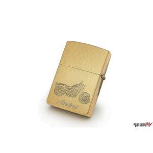 Bricheta Zippo personalizata gravura foto auriu - mat