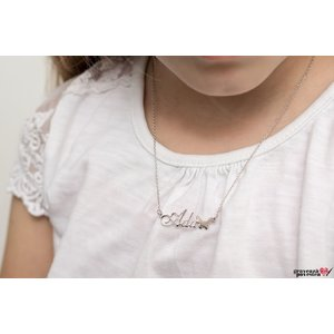 Colier nume decupat pentru copii Argint 925 rodiat