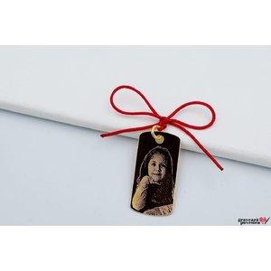 Pandantiv placuta 28 mm personalizata gravura foto Aur 14K