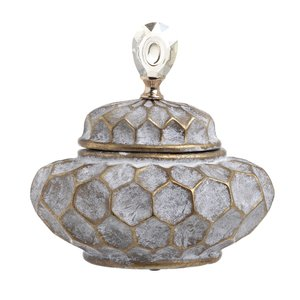 Amon Vas decorativ mic, Ceramic, Gri