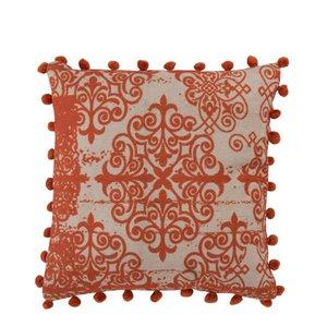Baroque Perna decorativa, Textil, Portocaliu