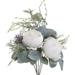 Beauty Buchet flori artificiale, Plastic, Alb