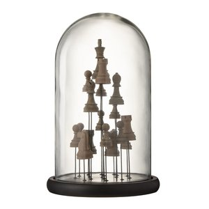 Bell Chess Decoratiune dom mare, Sticla, Maro