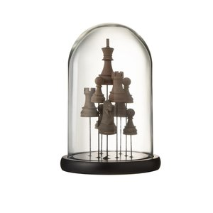 Bell Chess Decoratiune dom mic, Sticla, Maro