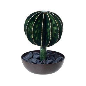 Cactus Floare artificiala ghiveci mic, Metal, Verde