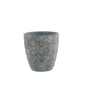 Callen Ghiveci mic, Ceramica, Gri