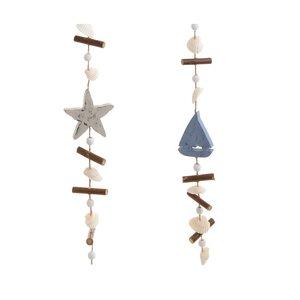 Cindy Set 2 decoratiuni ghirlanda, Lemn, Albastru