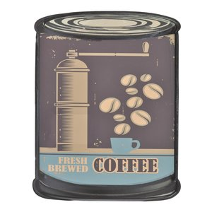 Coffe Decoratiune perete, Metal, Multicolor