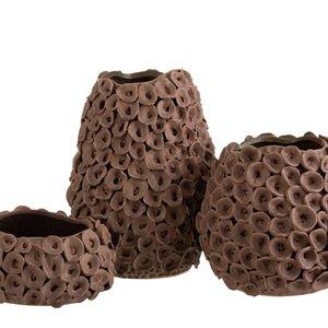 Coral Vaza mare, Ceramica, Maro