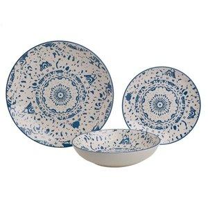 Cynthia Set Masa 18 piese, Ceramica, Albastru
