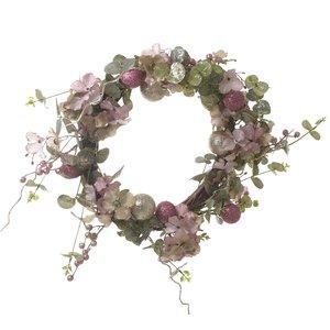Decoratiune Cirle Flowers Pink