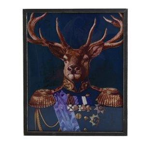 Deer Tablou cerb, Lemn, Multicolor