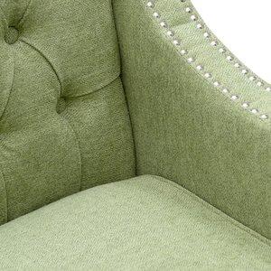 Denis Canapea 2 locuri, Textil, Verde