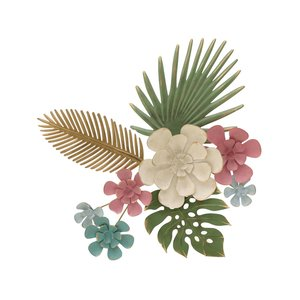 Eliah Decoratiune perete flori, Metal, Multicolor