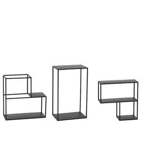 Elias Raft modular perete, Metal, Negru