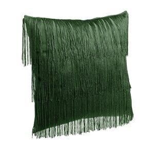 Emesa Perna decorativa franjuri, Textil, Verde
